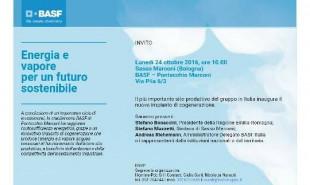 Inaugurazione nuovo impianto di cogenerazione Stabilimento Basf di Pontecchio Marconi